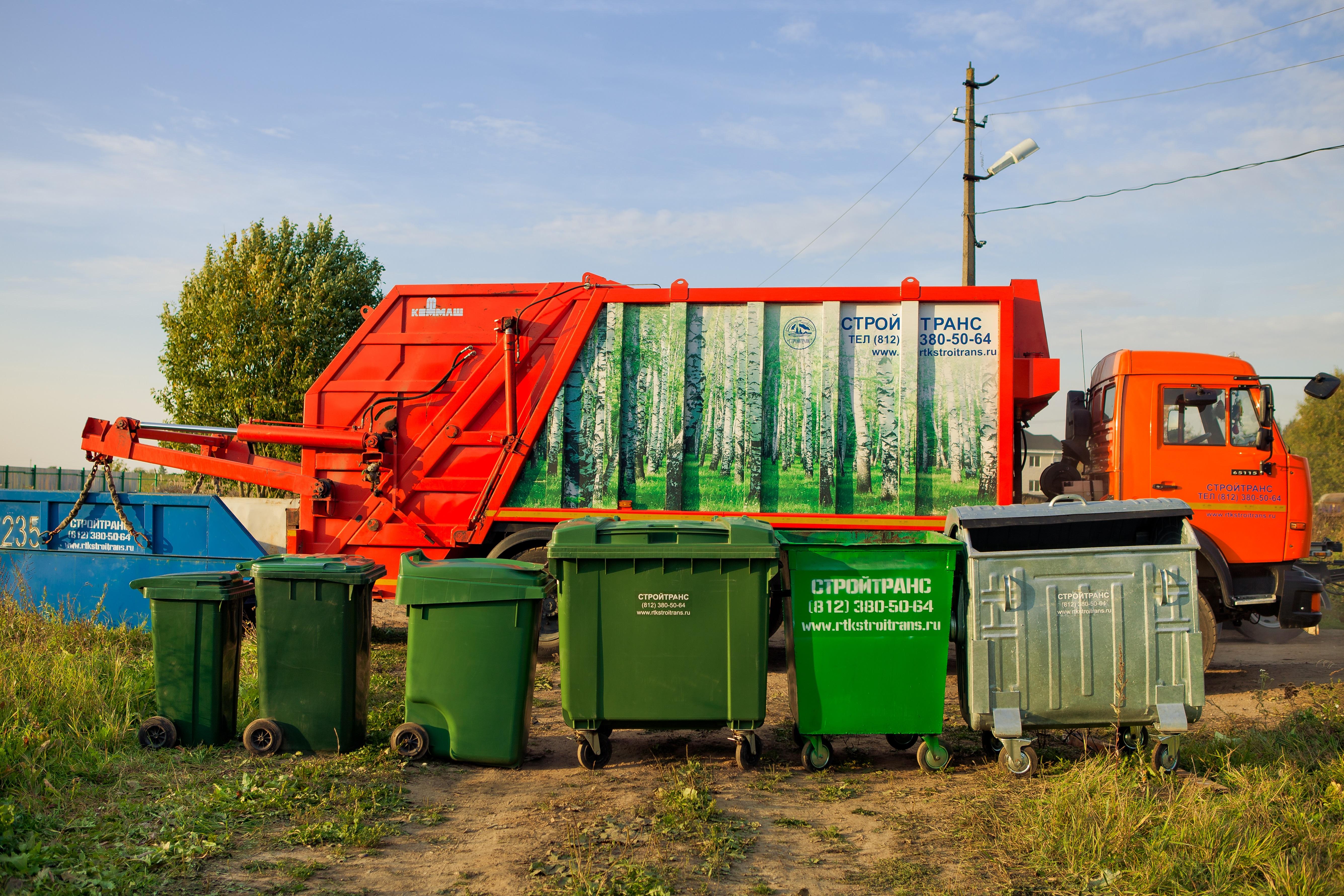 схема сбора и вывоза мусора