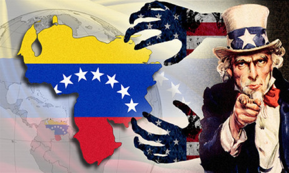 Image result for venezuelan cartoon of us intervention