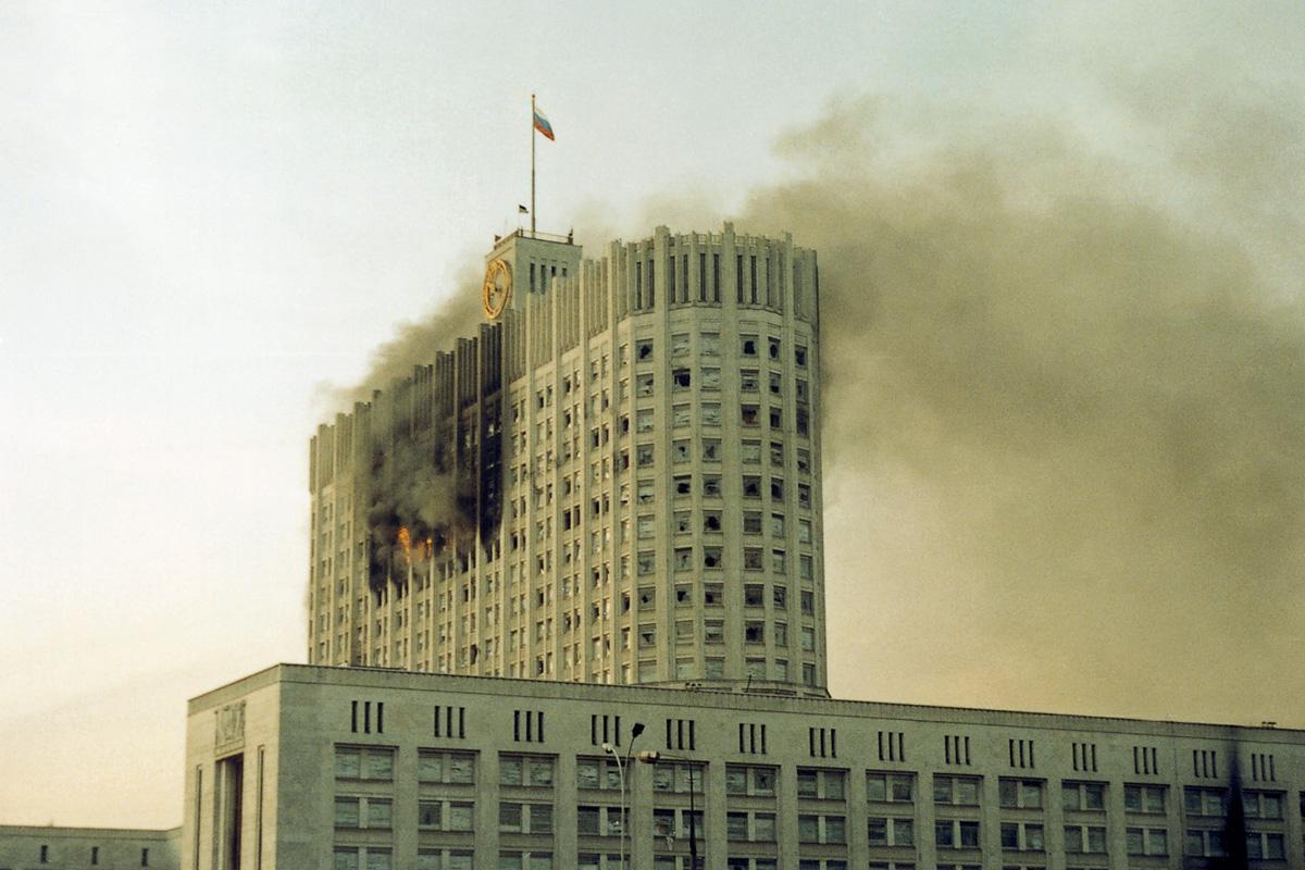 Картинки по запросу обстрел белого дома 1993