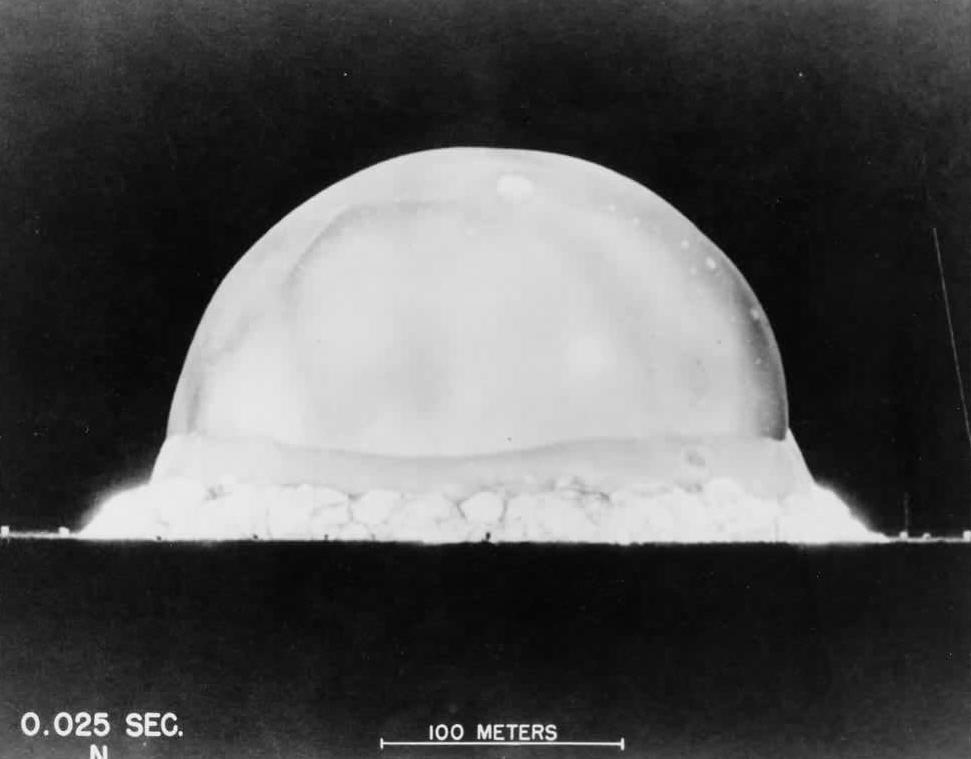Trinity Test Shot .025 Sec July 16 1945