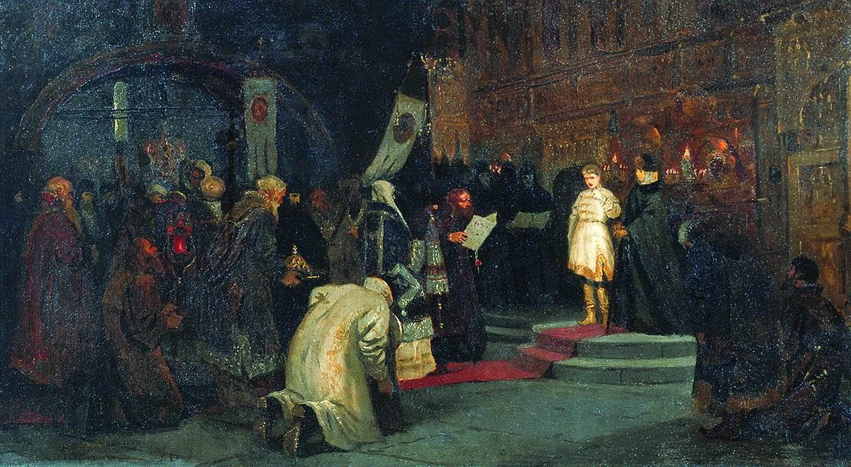Картинки по запросу венчание михаила романова на царство