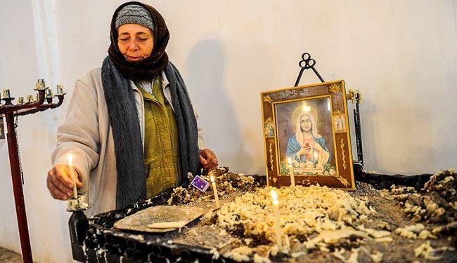 المسيحية الوحيدة  في قرية إيرانية ترعى كنيسة العذراء مريم