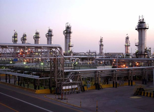 A view shows Saudi Aramco's Abqaiq oil facility in eastern Saudi Arabia in this undated handout photo. Saudi Aramco/Handout via REUTERS ATTENTION EDITORS - THIS PICTURE WAS PROVIDED BY A THIRD PARTY. NO RESALES. NO ARCHIVE.