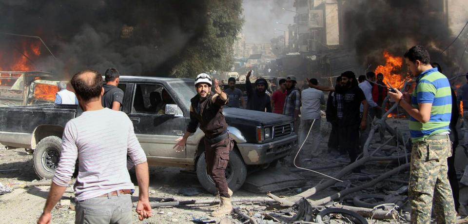 Luftangriff-in-Syrien