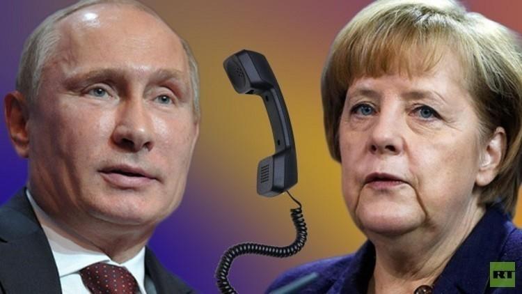 Путин и Меркель в телефонном разговоре обсудили Украину и Минские соглашения